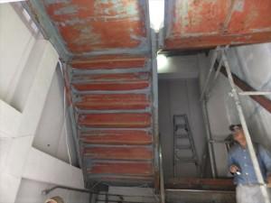 大阪 外壁塗装工事 ケレン作業